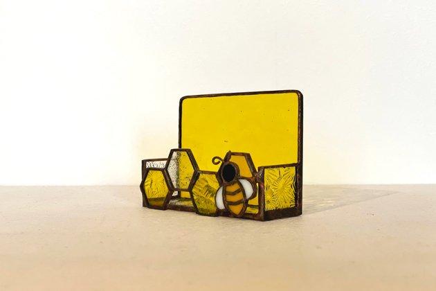 Card holder Honeybee yellow カードホルダー ミツバチ イエロー【画像3】