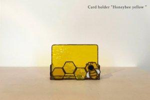Card holder Honeybee yellow カードホルダー ミツバチ イエロー