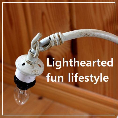テーブルランプのランプベース(フレーム) Lamp base grape white Sa【画像3】