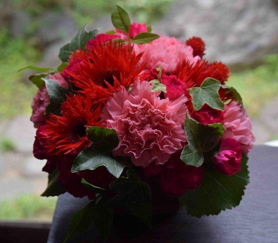 母の日おまかせアレンジメント3500円【送料込】★ピンク・レッド系★