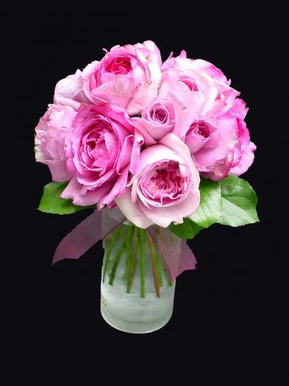 ピンク系バラのクラッチブーケ18000円