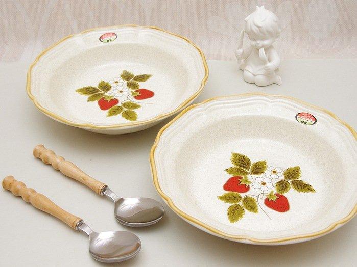 昭和レトロ ミカサ mikasa STRAWBERRY FESTIVAL カレー皿 5枚セット