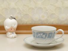 昭和レトロ ノリタケ ストーンウェア カップソーサー 5客セット VICTORY  BLUE