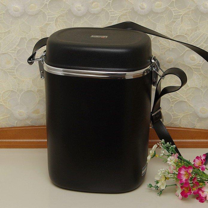 昭和レトロ 象印マホービン 魔法瓶ランチジャー 水筒付き ブラック LPS-1200 ※