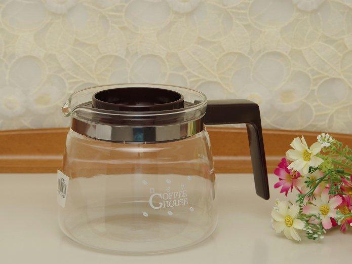 パイレックス 直火対応 耐熱ガラスポット 「ニューコーヒーハウス」 ダークブラウン 0.9リットル