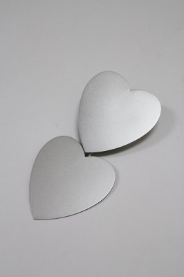 THEATRE PRODUCTS metal heart tiepin(silver)