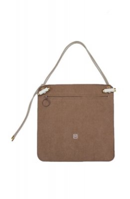 THEATRE PRODUCTS fake suede bag(beige)