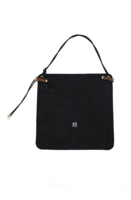 THEATRE PRODUCTS fake suede bag(black)