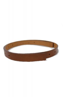 TARO HORIUCHI buckle less Leather belt(brown)