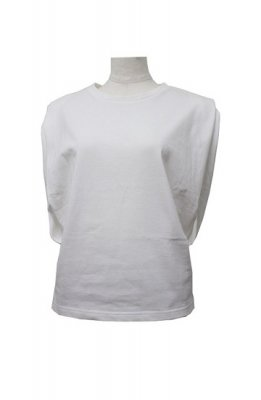 YOLO sleeve less tuck tops(white)