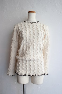 THEATRE PRODUCTS shirring pullover(ivory)