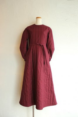KIN quilting dress(bordeaux)
