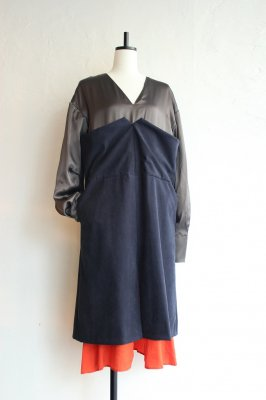 CONICAL block dress(dark blue)