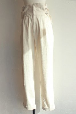 DECO depuis 1985 80oz denim high waist pants(white)