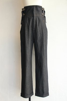 DECO depuis 1985 80oz denim high waist pants(black)