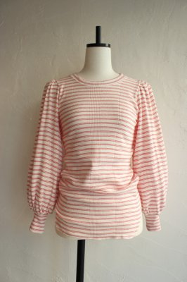 OSHIMA REI all rib volume sleeve tops