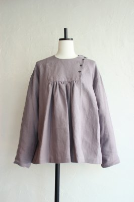 KIN Asymmetry Gather pullover(violet Gris)