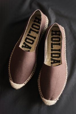HOLIDAY double sole espadrille(brown)