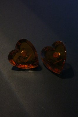 THEATRE PRODUCTS Acryl Heart cut pierces(brown)