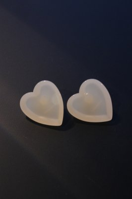 THEATRE PRODUCTS Acryl Heart cut pierces(white)