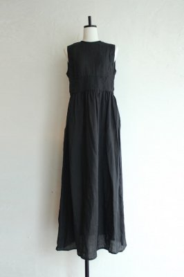 HOLIDAY linen long dress(black)