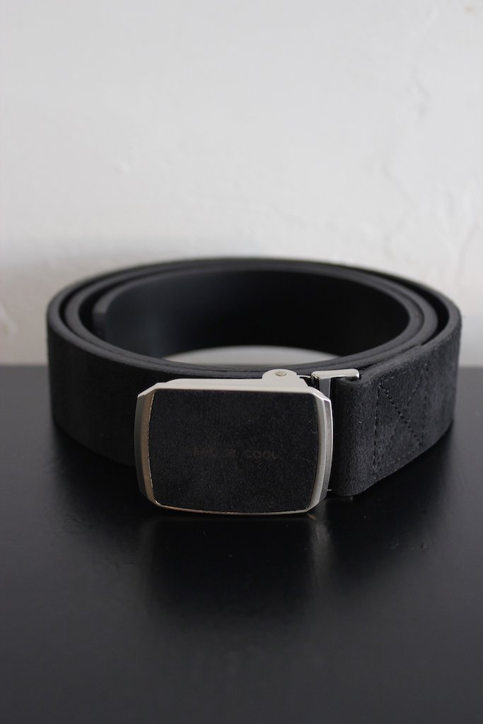 THE NERDYS leather belt(black)