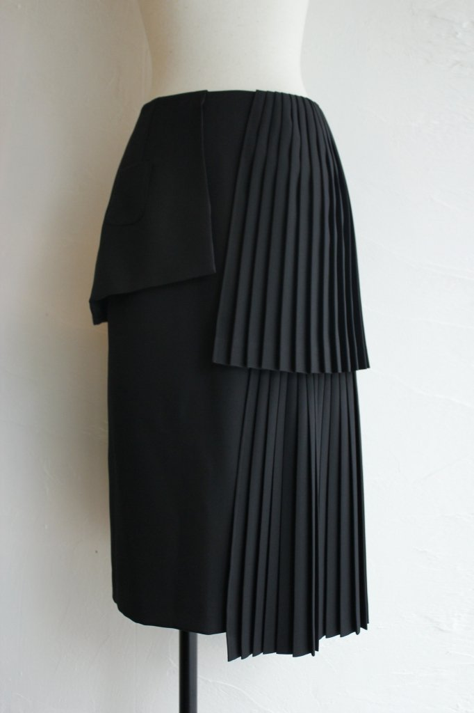 TARO HORIUCHI tiered pleats skirt