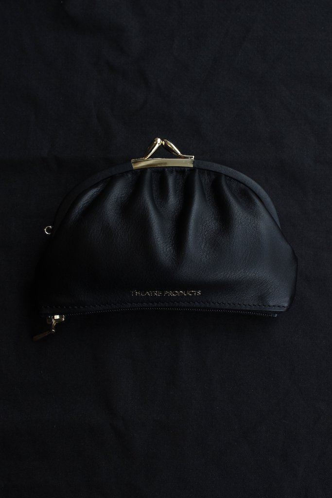 THEATRE PRODUCTS kip leather purse(black)