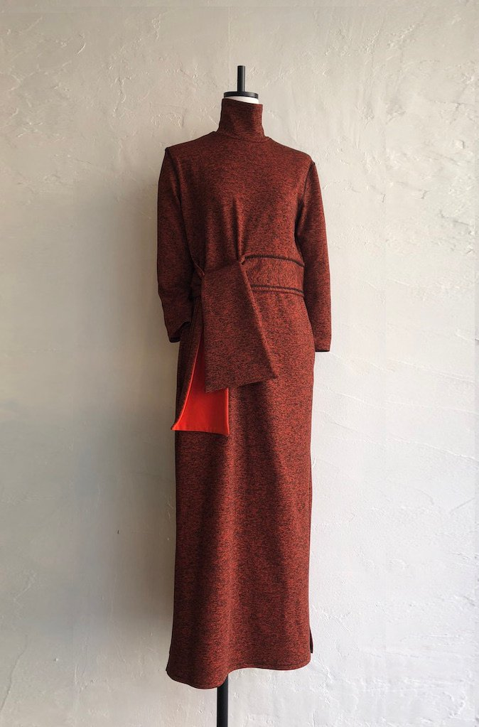 TARO HORIUCHI turtle neck dress(orange)