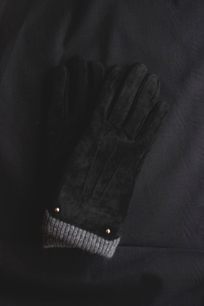 Cooco leather knit combination globe