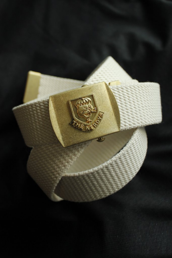 THE NERDYS military belt(white)