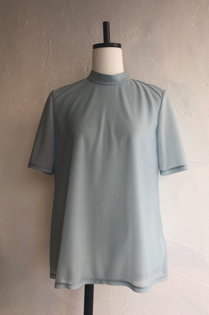 TARO HORIUCHI back dorosuto turtle neck tops(mint)