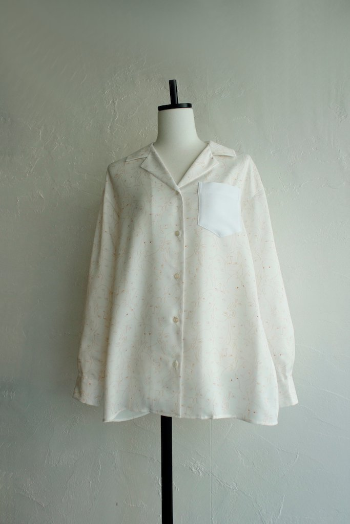 TARO HORIUCHI open collar shirt