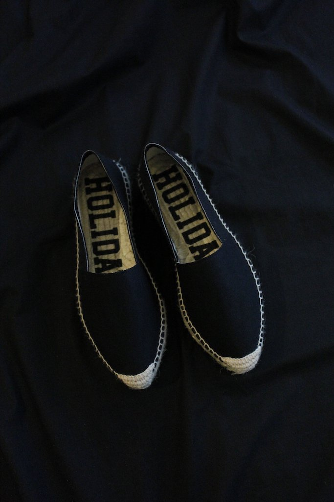 HOLIDAY double sole espadrille(black)