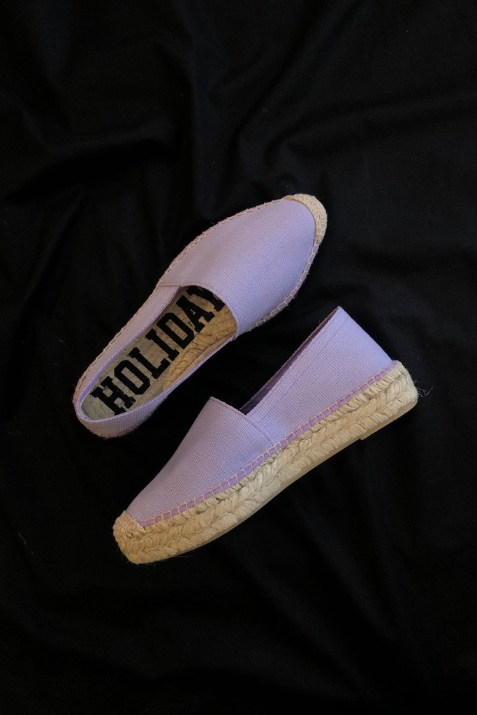 HOLIDAY double sole espadrille(purple)