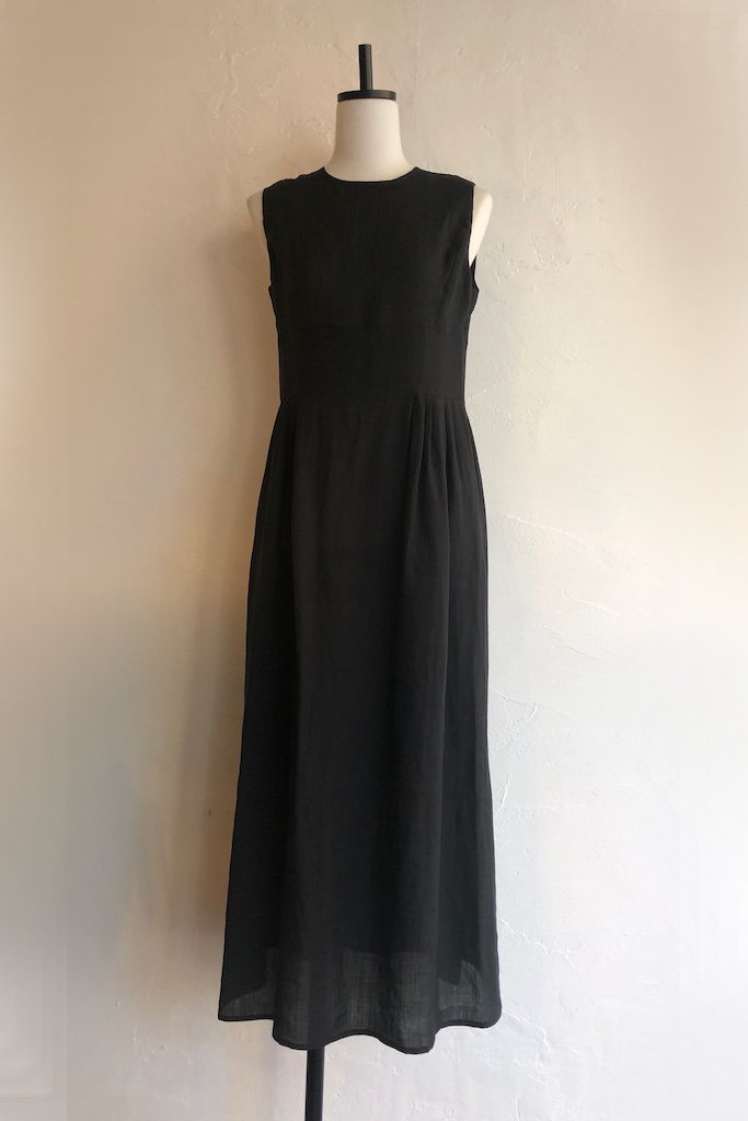 HOLIDAY ramie long dress(black)