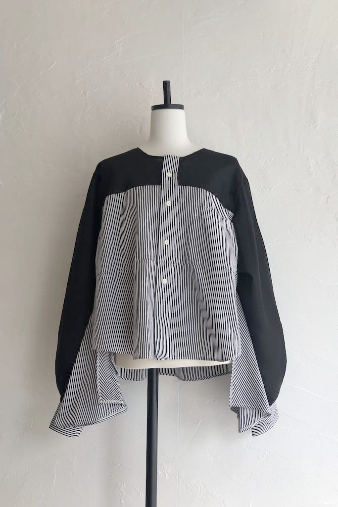 Kidole. stripe remake shirt