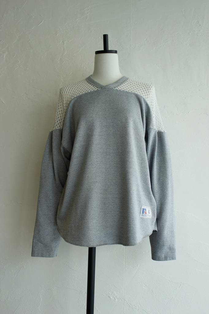 Kidole. mesh shoulder RUSSELL long sleeve T