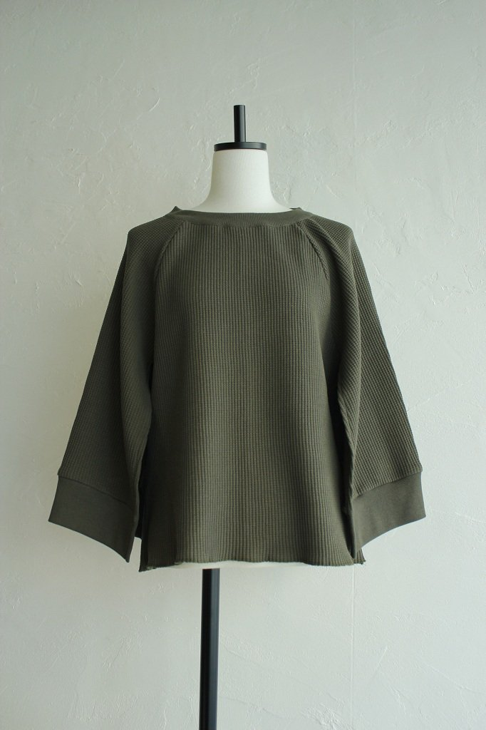 Kidole thermal slit tops(khaki)