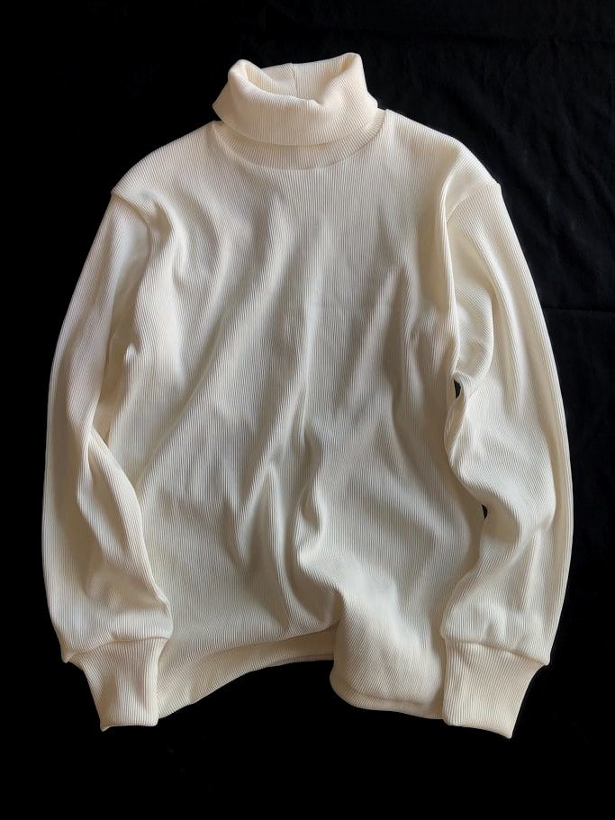 EFILEVOL color turtle neck pullover(white)