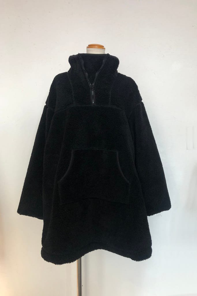 OSHIMA REI boa high neck pullover long coat