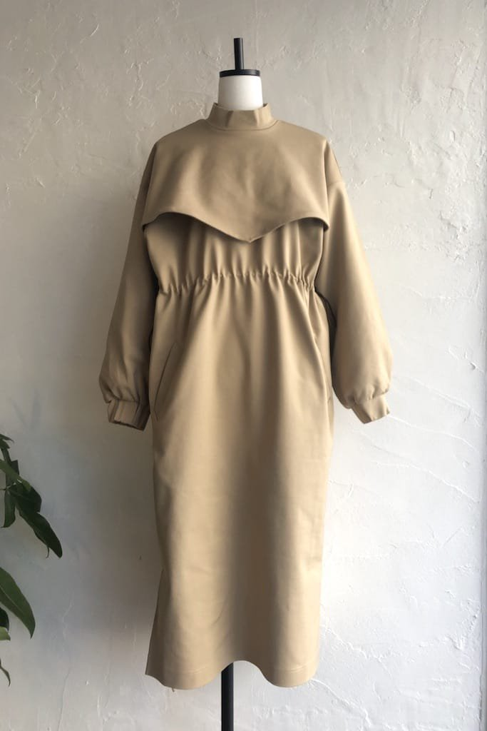EFILEVOL layered dress(beige)