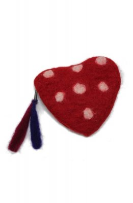 cooco dot heart porch(red)