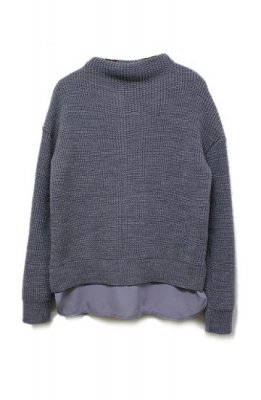 tap roots middle gage knit tops(gray)