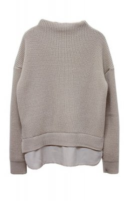 tap roots middle gage knit tops(beige)