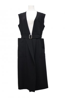 TARO HORIUCHI triacetate sleeveless coat