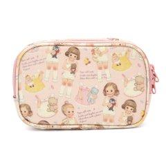 【ピンクパターン】オイルクロス daily pouch