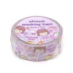 【マスキングテープ】18. Paper doll mate_minime sally 15mm