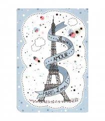 【Paris】クリスマスポストカード(エッフェル塔)