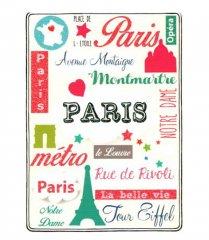【Paris】クリスマスポストカード(エッフェル塔)グリッター